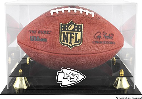 Mounted Memories Kansas City Chiefs Team Logo Football Display Case
