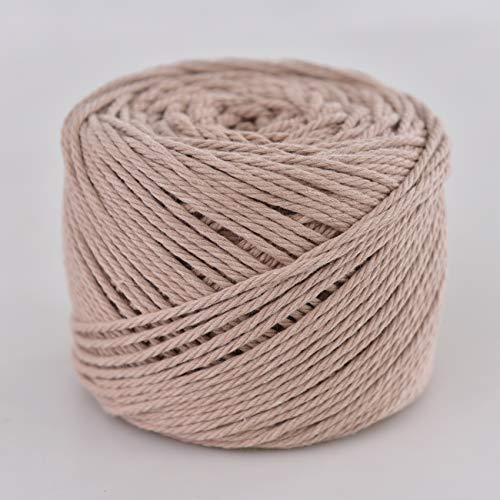 Handmade Decorations Natural Cotton Bohemia Macrame DIY Wall Hanging Plant Hanger Craft Making Knitting Cord Rope Natural Rose Color Macramé Cord (Rose, 3mm x100m(About 109 yd)) -