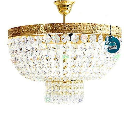 Cristal Lámpara de Techo Amsterdam Ø45cm Oro Hecho con ...