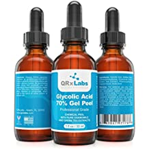 Glycolic Acid 70% Gel Peel with Chamomile and Green Tea Extracts - Professional Grade Chemical Face Peel for Acne Scars, Collagen Boost, Wrinkles, Fine Lines - Alpha Hydroxy Acid - 1 Bottle of 1 fl oz