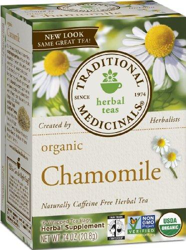 Medicinals traditionnelle bio, de camomille, les cases 16-Count (pack de 6)