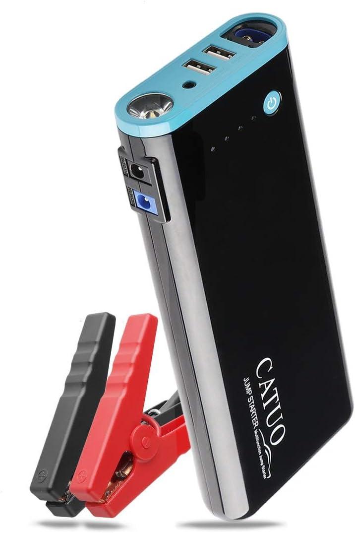 CATUO 20000mAh Portable Car Auto Jump Starter Battery Booster avec LED Banque dalimentation USB Lampe de Poche pour Camion Bateau /à Moteur