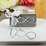 Infinity Design Silver Metal Bottle Opener Wedding Favors (50)