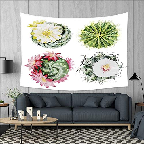 smallbeefly Cactus Tapestry Wall Tapestry Retro Mexican Hot