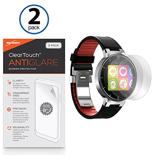 Alcatel OneTouch Watch Screen Protector, BoxWave [ClearTouch Anti-Glare (2-Pack)] Anti-Fingerprint Matte Film Skin for Alcatel OneTouch Watch (0 Alcatel One Touch)