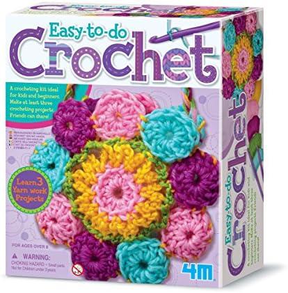 4M 3625 Easy-To-Do Crochet Kit – DIY Arts & Crafts Yarn Gift for Kids & Teens, Boys & Girls