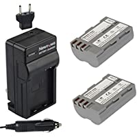 Newmowa EN-EL3e Battery (2-Pack) and Charger kit for Nikon EN-EL3e and Nikon D50, D70, D70s, D80, D90, D100, D200, D300, D300S, D700