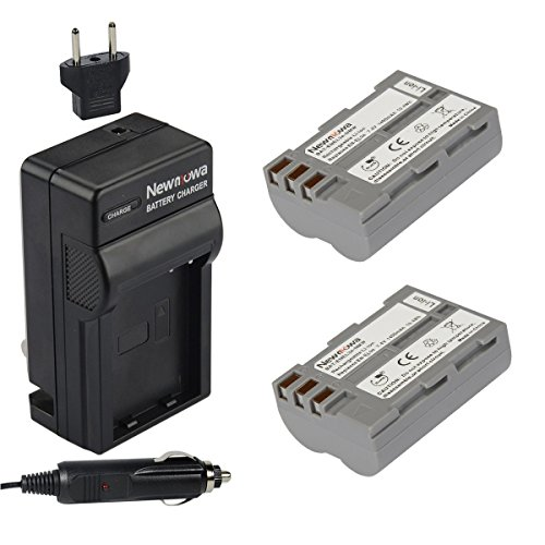 Newmowa EN-EL3e Replacement Battery (2-Pack) and Charger kit for Nikon EN-EL3e and Nikon D50, D70, D70s, D80, D90, D100, D200, D300, D300S, D700