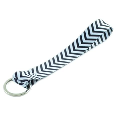 Amazon.com: Colorful Chevron tela de poliéster Wristlets ...