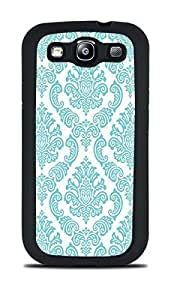 DamaskTeal Black Silicone Case for Samsung Galaxy S3