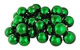 Northlight 60 Count Shiny Xmas Green Shatterproof Christmas Ball Ornaments, 2.5''