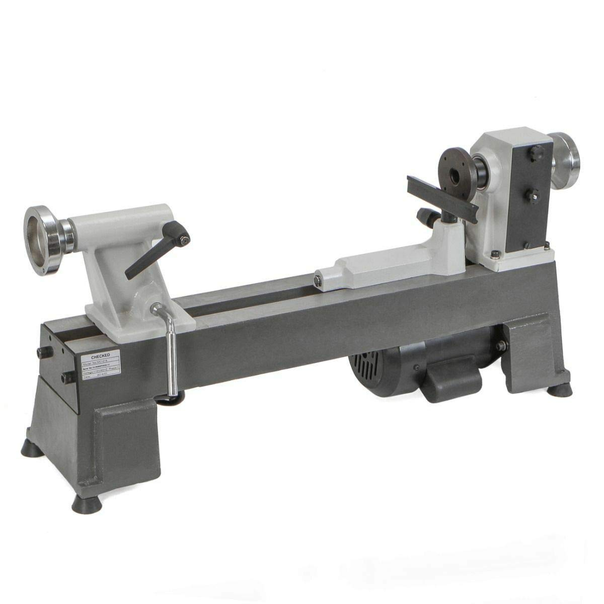 Easy Access, All-Cast-Iron Construction Heavy Duty 5 Speed Bench Top Power Turning Wood Lathe Tools New 10 X 18''