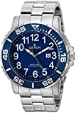 Croton Men's CA301280BUBL Analog Display Quartz Silver Watch