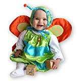 Mullins Square Butterfly Baby Costume, Lime/Blue - 6-18 Months