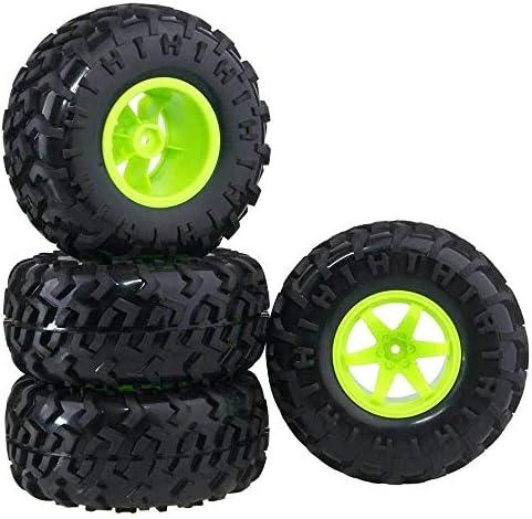 RC 0801-3001 Rubber Tires Wheel Sets 4P For HSP HPI 1:10 Monster