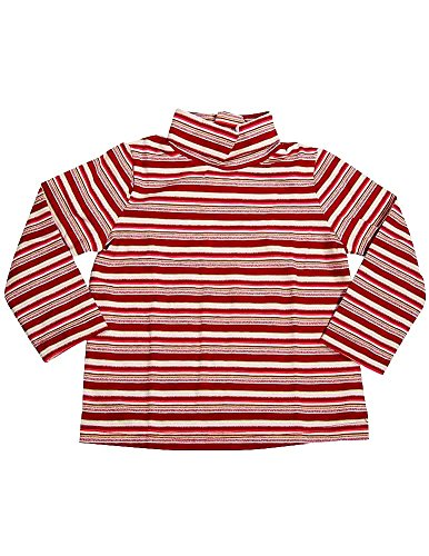 (Private Label - Little Girls Long Sleeved Turtleneck Top, Red, Pink 6331-4T)