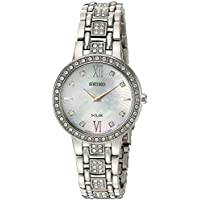 Seiko Women's 'Ladies Crystal Dress' Quartz Stainless Steel Casual Watch, Color:Silver-Toned (Model: SUP359)
