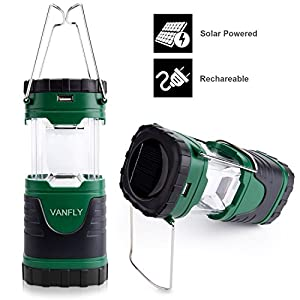 Amazon Com Camping Lights Solar Rechargeable Collapsible