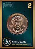 Khris Davis 2018 Baseball Treasure MLB Coins Copper Oakland Athletics FD3211