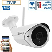 Zivif Wifi Wireless IP Security Home Network Camera 1 Megapixel 720P Built-in SD Card Audio Support Bullet Outdoor Indoor IR Nightvision Motion Detection