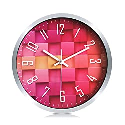 Foxtop Aluminum Wall Clock, Silent Non-ticking Quartz Decorative Wall Clock Battery Operated for Living Room Bedroom Office School 12 inch