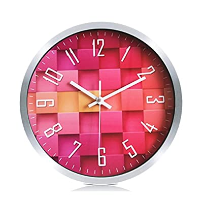 Foxtop Aluminum Wall Clock, Silent Non-ticking Quartz Decorative Wall Clock Battery Operated for Living Room Bedroom Office School 12 inch -  - wall-clocks, living-room-decor, living-room - 51r77M2SrIL. SS400  -