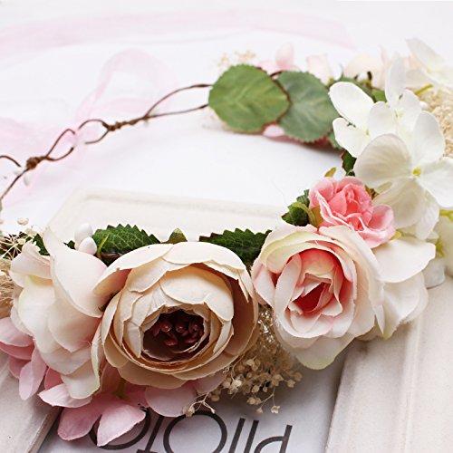 Customization studio eternity flower headdress Korean bridal hair accessories Sen female flower hay with jewelry hoop headband wreath beach for women girl - Wreath Eternity