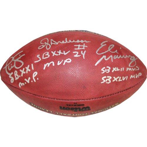 NFL New York Giants Eli Manning, Phil Simms and OJ Anderson Signed Duke (Manning Nfl Duke Football)