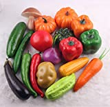 18 Pcs/1 set Realistic Artificial Lifelike Vegetables Play Food Home Decorations