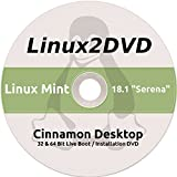 "Linux Mint 18.1 "" Serena "" LATEST RELEASE - Cinnamon Version - Install / Live DVD ( 32/64 bit )"