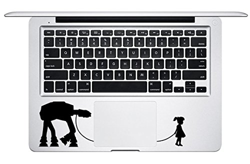 A Girl and Her AT-AT Walker Trackpad Star Wars Apple Macbook