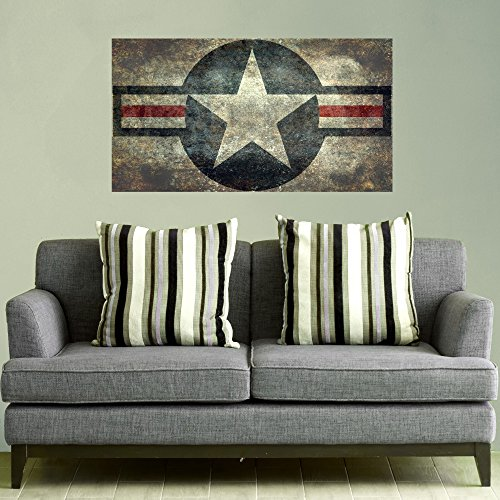 Air Force Flag Stickers (My Wonderful Walls US Air Force Roundel Star Wall Decal Flag by Bruce Stanfield (large))