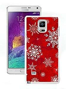 Galaxy note 4 case, Samsung Galaxy note 4 cases,Christmas snowflake Samsung Galaxy note 4 Case White Cover