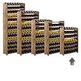 Weinregal / Flaschenregal System 'Optiplus' Modell 1, für 42 Fl., Holz, Kiefer braun gebeizt