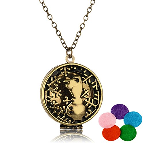 Women Necklace Essential Oil Diffuser Necklaces Young Living Bear Pendant Jewelry Chain (Louis Vuitton Halloween Costume)