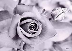 """Manteles individuales ARTIPICS """"una rosa"""", 4 pcs manteles lavable"""