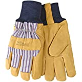 Kinco Men's Lined Grain Pigskin Leather Palm With Knit Wrist Work Gloves