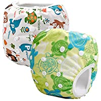Storeofbaby 2pcs Reusable Baby Swim Diapers Washable Cloth Cover for Litte Sw...