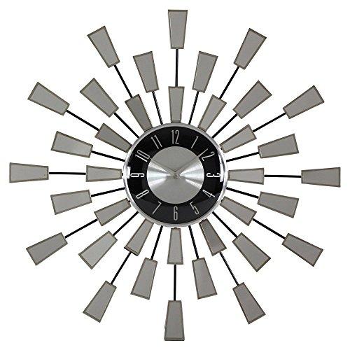 Aspire Levi Contemporary Mirror Wall Clock, Silver by Aspire