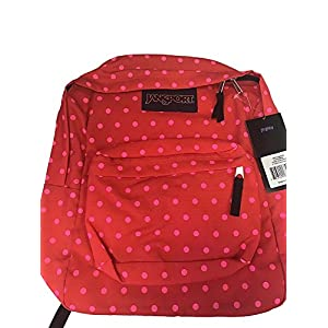 JanSport Superbreak Coral Dusk Dots Student Backpack, 1550 Cubic Inches