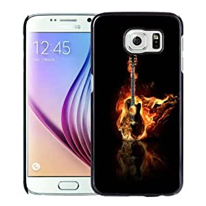 New Personalized Custom Designed For Samsung Galaxy S6 Phone Case For Burning Guitar Phone Case Cover