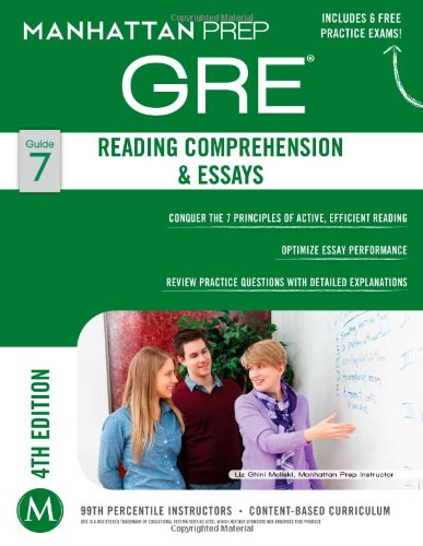 GRE Reading Comprehension & Essays (Manhattan Prep GRE Strategy Guides)
