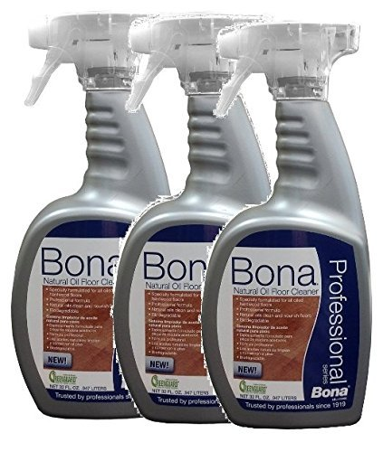 (3 PACK Bona Professional Series Natural Oil Floor Cleaner - 32oz Spray Bottle by)