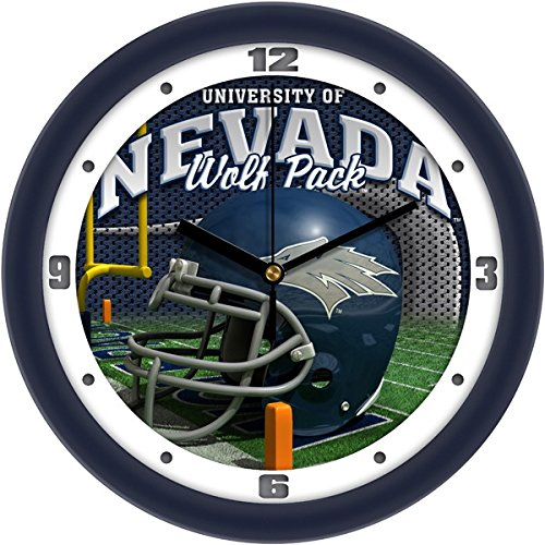 (SunTime NCAA Nevada Wolfpack Helmet Wall Clock,)
