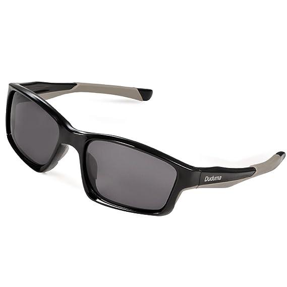 Duduma Gafas de Sol Deportivas Polarizadas Para Hombre Perfectas Para Esquiar Golf Correr Ciclismo TR603 Súper Liviana Para Hombre y Para Mujer (marco ...