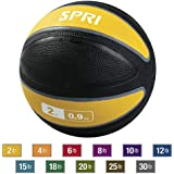 SPRI Xerball Medicine Ball Thick Walled Durable Construction with Textured Surface (Available in 2, 4, 6, 8, 10, 12, 15, 18, 20, 25, 30 Pounds)