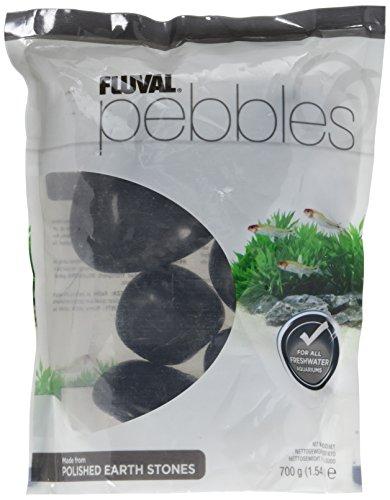 Fluval Polished Black Agate Stone for Aquarium, 1.5-Pound by Fluval