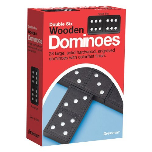 - Double Six Wooden Dominoes by Pressman Toys