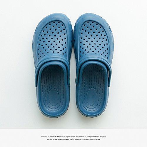 foro nbsp;Fresco ha e della pantofole in e amanti beach antiscivolo gli estate esterno parte uomini 33 34 una famiglia di Fankou giardino scarpa tre blu scuro una scarpe di qd7wCqU