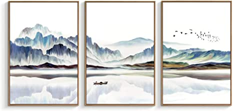 Amazon Com Nwt Framed Canvas Wall Art For Living Room Bedroom Canvas Prints For Home Decoration Ready To Hanging 24 X36 X3 Panels Posters Prints